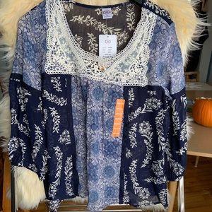 Rayon Bila peasant blouse